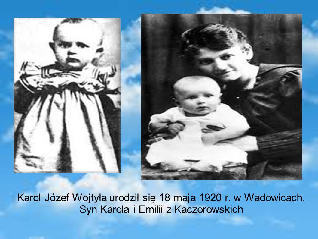 20 czerwca 1920 r. został ochrzczony w kościele parafialnym w Wadowicach