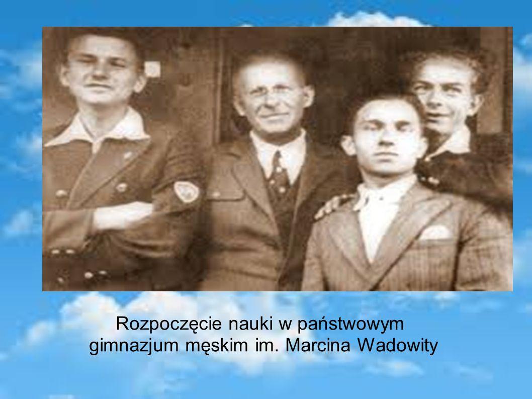 Rozpoczęcie nauki w państwowym gimnazjum męskim im. Marcina Wadowity