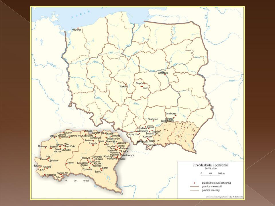 Ochronki i przedszkola - Polska 2008r.