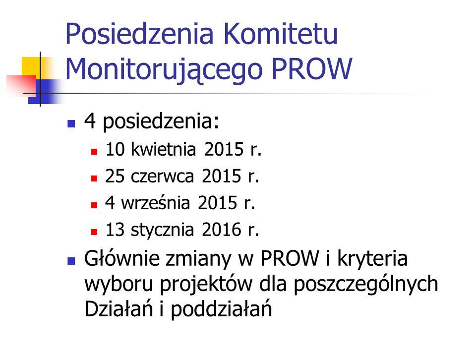 Posiedzenia Komitetu Monitorującego PROW 4 posiedzenia: 10 kwietnia 2015 r.
