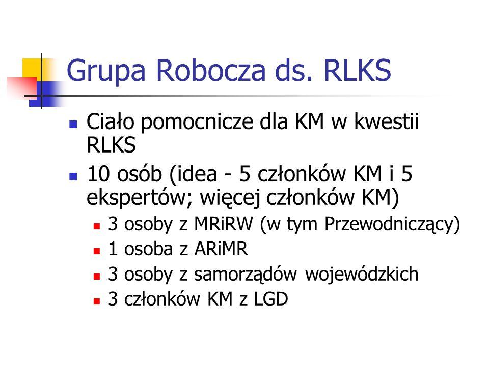 Posiedzenia GR ds.RLKS (1) Pierwsze – 21 lipca 2015 r.