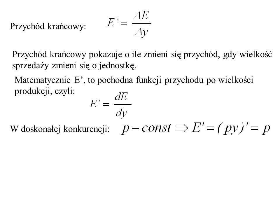 Funkcja przychodu E = py.