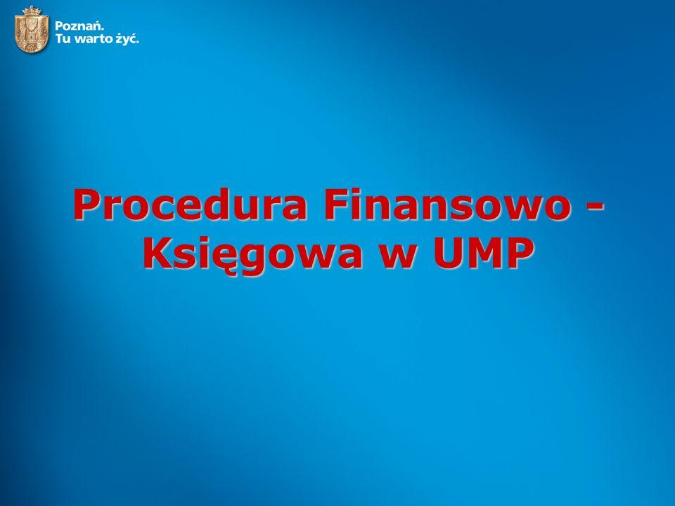Procedura Finansowo - Księgowa w UMP