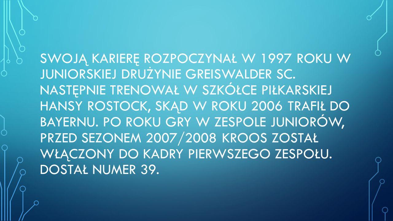 SWOJĄ KARIERĘ ROZPOCZYNAŁ W 1997 ROKU W JUNIORSKIEJ DRUŻYNIE GREISWALDER SC.