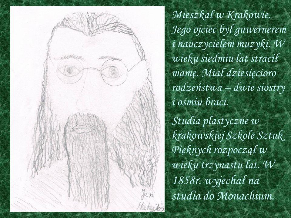 Mieszkał w Krakowie. Jego ojciec był guwernerem i nauczycielem muzyki. W wieku siedmiu lat stracił mamę. Miał dziesięcioro rodzeństwa – dwie siostry i