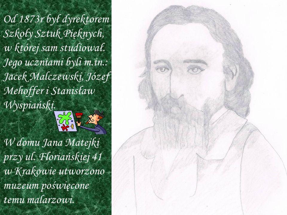 Jan Matejko malował głównie obrazy o tematyce historycznej i batalistycznej.