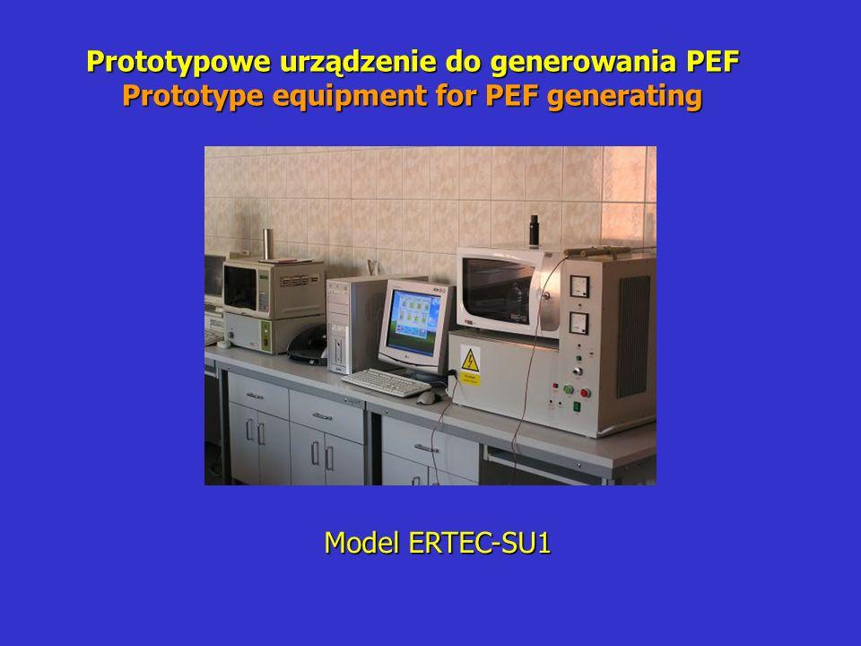 Prototypowe urządzenie do generowania PEF Prototype equipment for PEF generating Model ERTEC-SU1