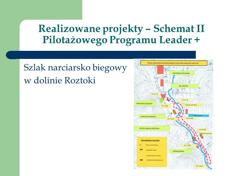 Realizowane projekty – Schemat II Pilotażowego Programu Leader + Szlak narciarsko biegowy w dolinie Roztoki