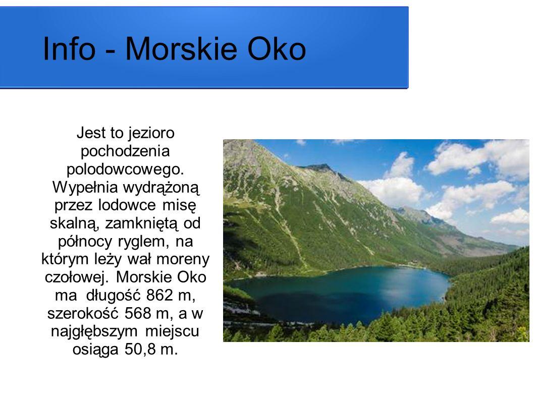 Jest to jezioro pochodzenia polodowcowego. Wypełnia wydrążoną przez lodowce misę skalną, zamkniętą od północy ryglem, na którym leży wał moreny czołow