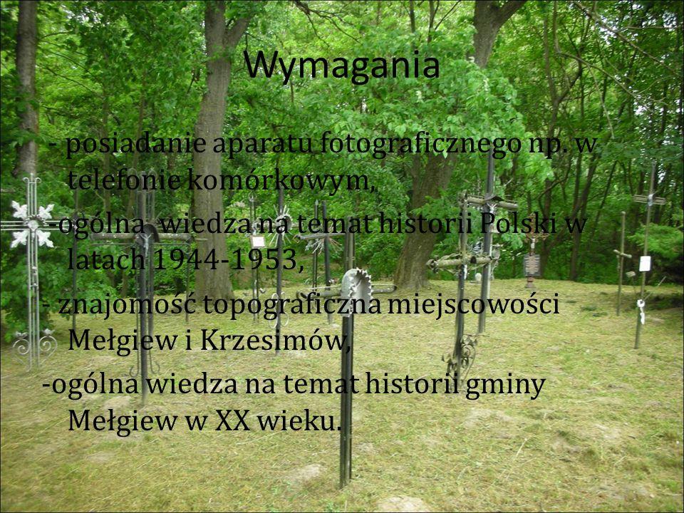 Pomniki na cmentarzu w Mełgwi Upamiętnienie rodziny Dreckich ostatnich właścicieli majątku Krzesimów, gdzie po zakończeniu wojny został utworzony obóz.