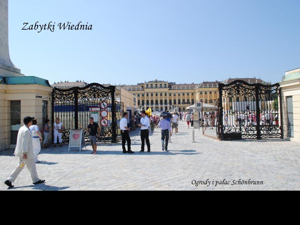 Zabytki Wiednia Ogrody i pałac Schönbrunn