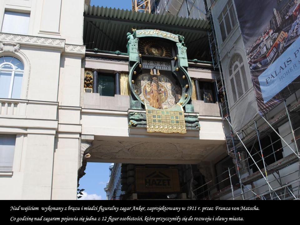 Ozdobą placu jest barokowa fontanna Józefa, zwana także Weselną.Najstarszy plac Wiednia Hoher Markt