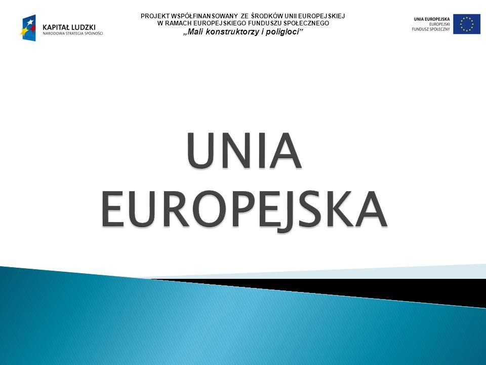 """PROJEKT WSPÓŁFINANSOWANY ZE ŚRODKÓW UNII EUROPEJSKIEJ W RAMACH EUROPEJSKIEGO FUNDUSZU SPOŁECZNEGO """"Mali konstruktorzy i poligloci"""