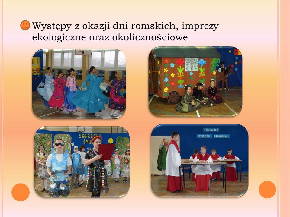 Występy z okazji dni romskich, imprezy ekologiczne oraz okolicznościowe