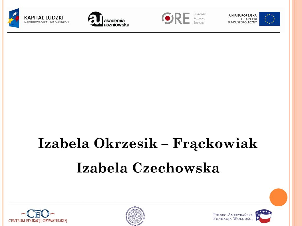 Izabela Okrzesik – Frąckowiak Izabela Czechowska