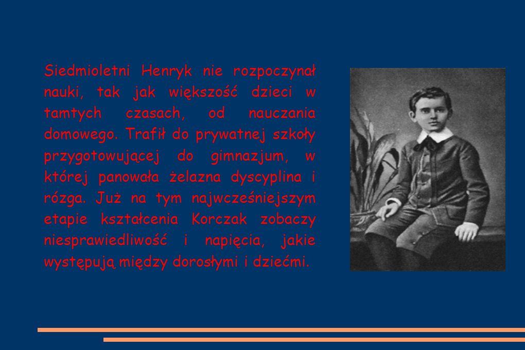 Siedmioletni Henryk nie rozpoczynał nauki, tak jak większość dzieci w tamtych czasach, od nauczania domowego.