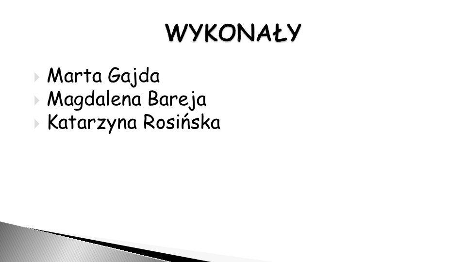  Marta Gajda  Magdalena Bareja  Katarzyna Rosińska
