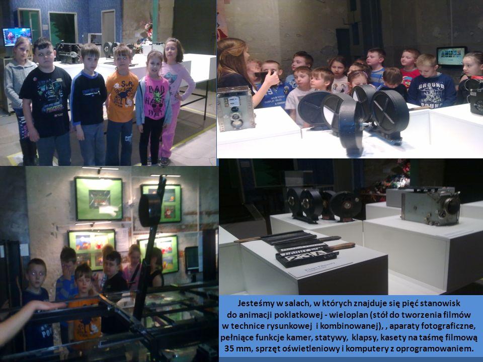 Jesteśmy w salach, w których znajduje się pięć stanowisk do animacji poklatkowej - wieloplan (stół do tworzenia filmów w technice rysunkowej i kombinowanej),, aparaty fotograficzne, pełniące funkcje kamer, statywy, klapsy, kasety na taśmę filmową 35 mm, sprzęt oświetleniowy i komputery z oprogramowaniem.