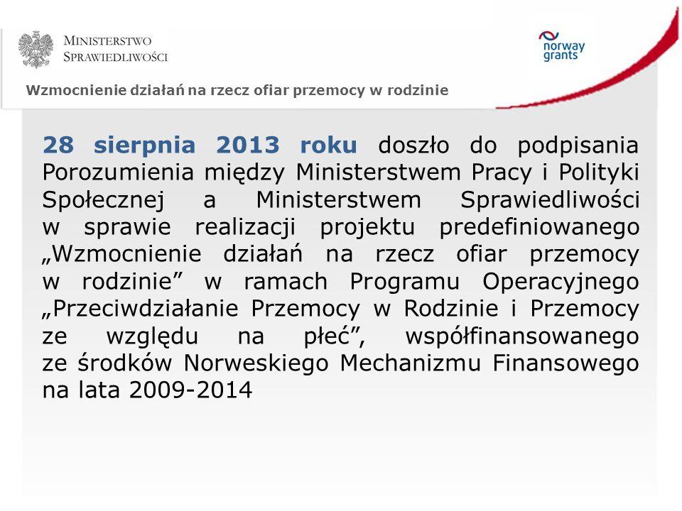Wzmocnienie działań na rzecz ofiar przemocy w rodzinie Utworzyliśmy stronę internetową dla projektu – www.pomocofiarom.ms.gov.pl na której zawarte zostały informacje o projekcie, programie operacyjnym, w ramach którego jest on realizowany, o wydarzeniach i aktualnościach.