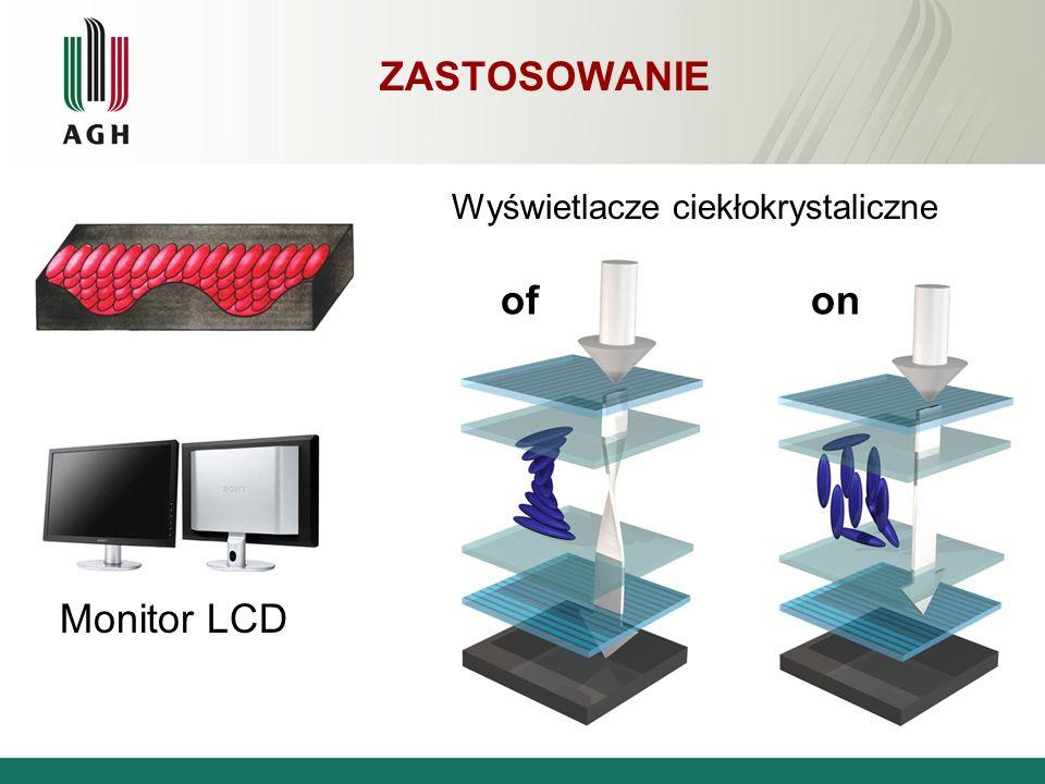 ZASTOSOWANIE Wyświetlacze ciekłokrystaliczne ofon Monitor LCD
