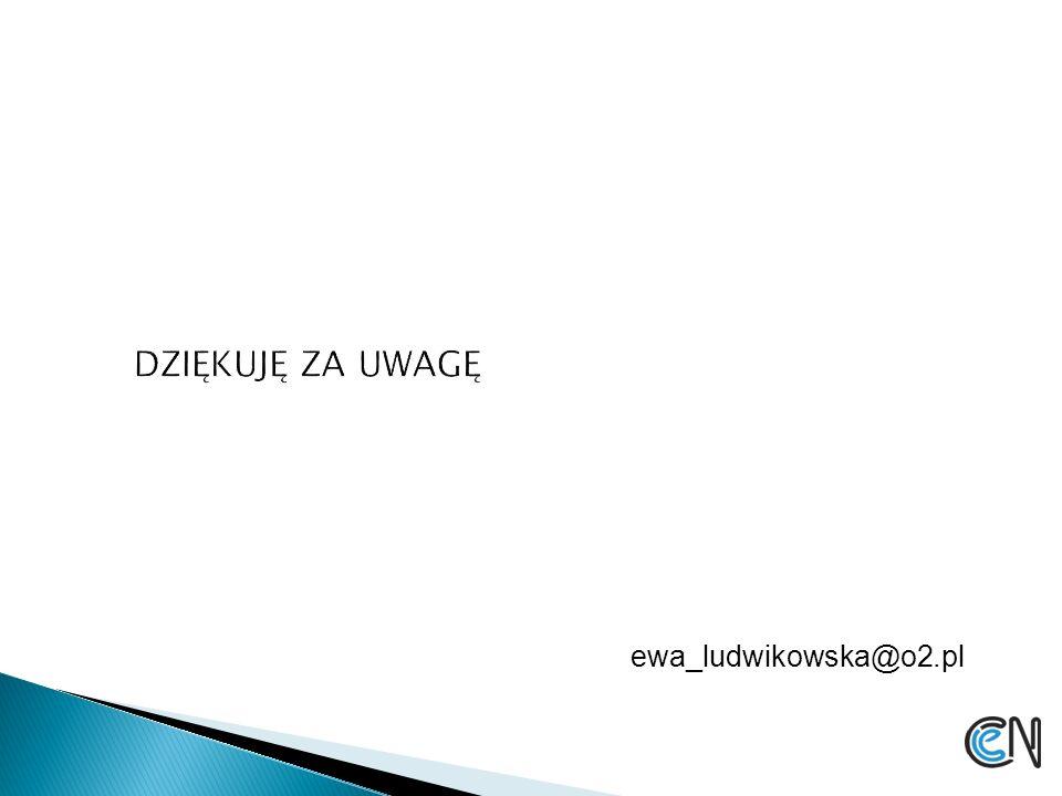 DZIĘKUJĘ ZA UWAGĘ ewa_ludwikowska@o2.pl