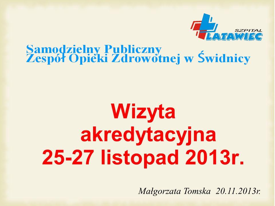 Wizyta akredytacyjna 25-27 listopad 2013r. Małgorzata Tomska 20.11.2013r.