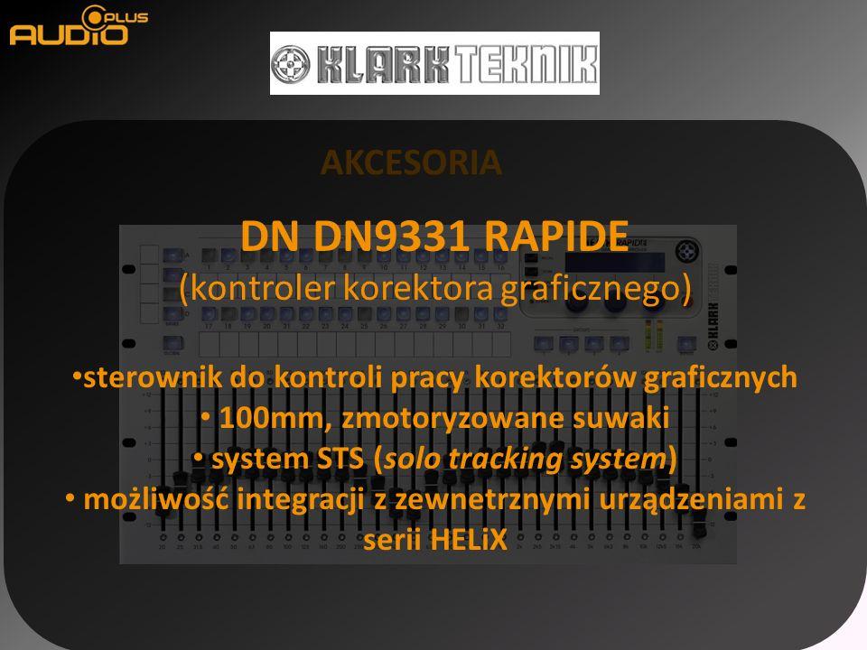 AKCESORIA DN DN9331 RAPIDE (kontroler korektora graficznego) sterownik do kontroli pracy korektorów graficznych 100mm, zmotoryzowane suwaki system STS (solo tracking system) możliwość integracji z zewnetrznymi urządzeniami z serii HELiX