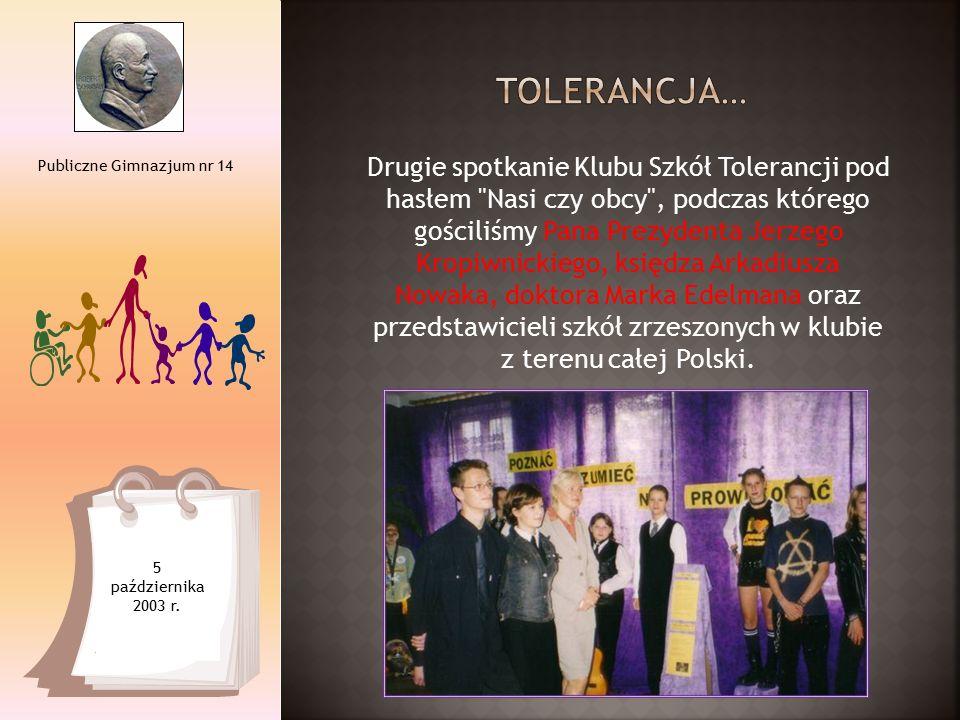 Drugie spotkanie Klubu Szkół Tolerancji pod hasłem