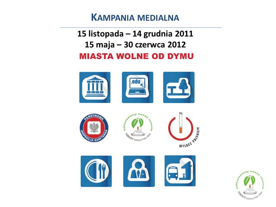 15 listopada – 14 grudnia 2011 15 maja – 30 czerwca 2012 K AMPANIA MEDIALNA