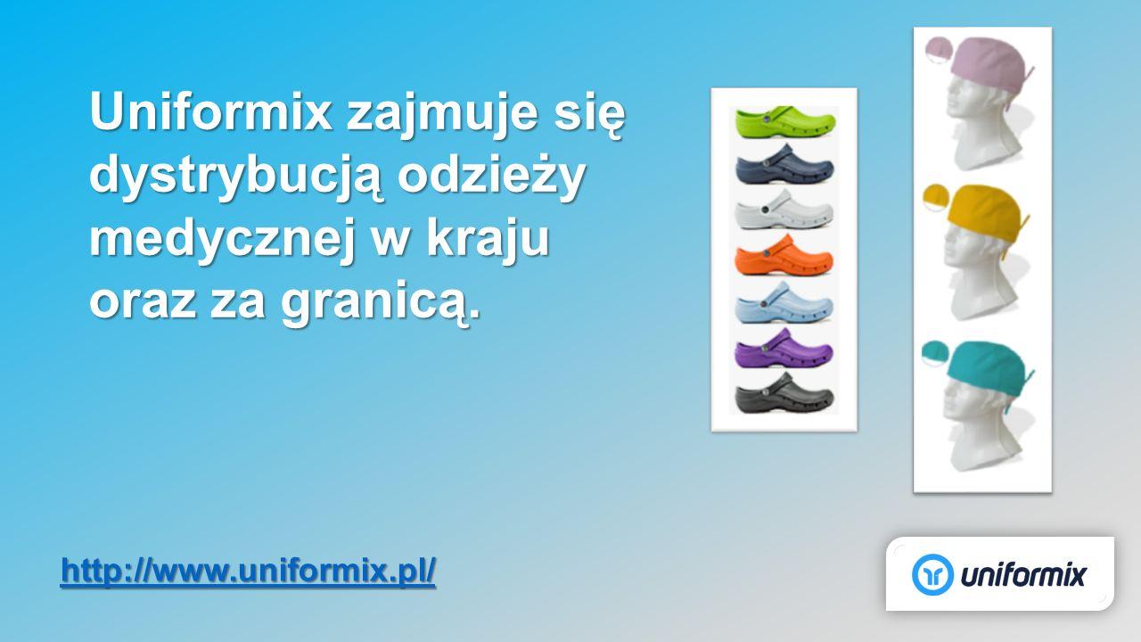 Uniformix zajmuje się dystrybucją odzieży medycznej w kraju oraz za granicą. http://www.uniformix.pl/
