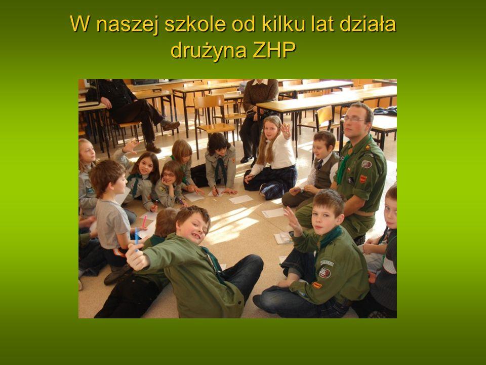 W naszej szkole od kilku lat działa drużyna ZHP