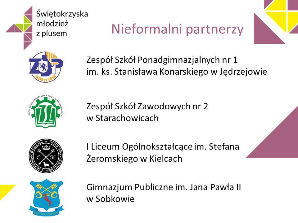Nieformalni partnerzy Zespół Szkół Ponadgimnazjalnych nr 1 im.