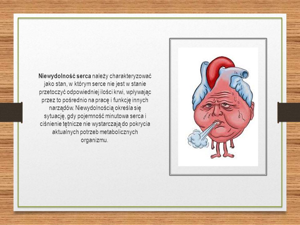 Niewydolność serca należy charakteryzować jako stan, w którym serce nie jest w stanie przetoczyć odpowiedniej ilości krwi, wpływając przez to pośrednio na pracę i funkcję innych narządów.