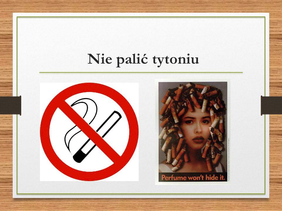 Nie palić tytoniu