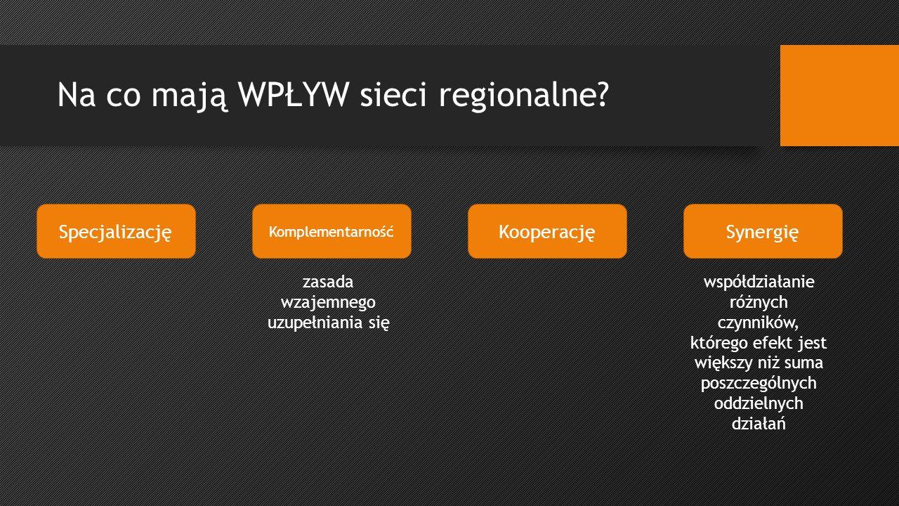 Na co mają WPŁYW sieci regionalne.
