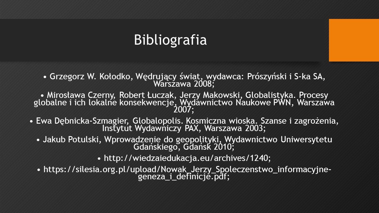 Bibliografia Grzegorz W.