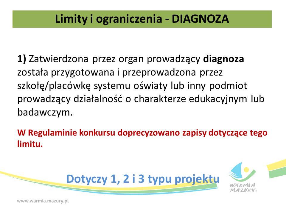 1) Zatwierdzona przez organ prowadzący diagnoza została przygotowana i przeprowadzona przez szkołę/placówkę systemu oświaty lub inny podmiot prowadzący działalność o charakterze edukacyjnym lub badawczym.