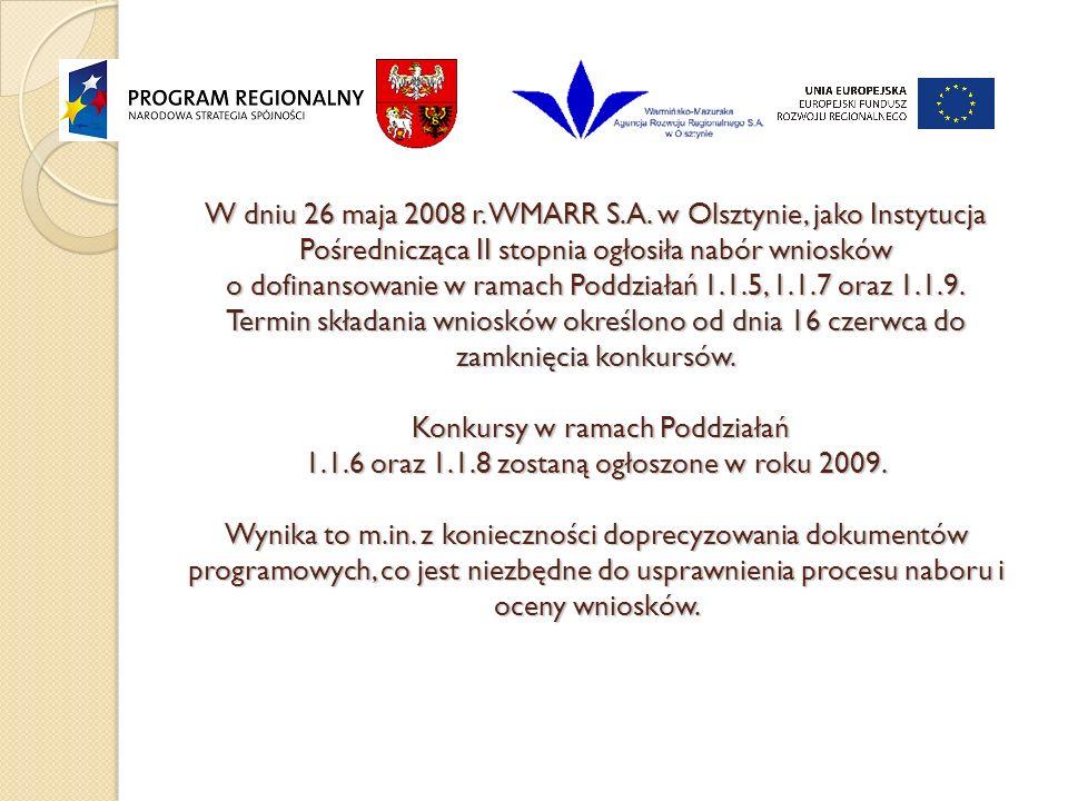 W dniu 26 maja 2008 r. WMARR S.A.