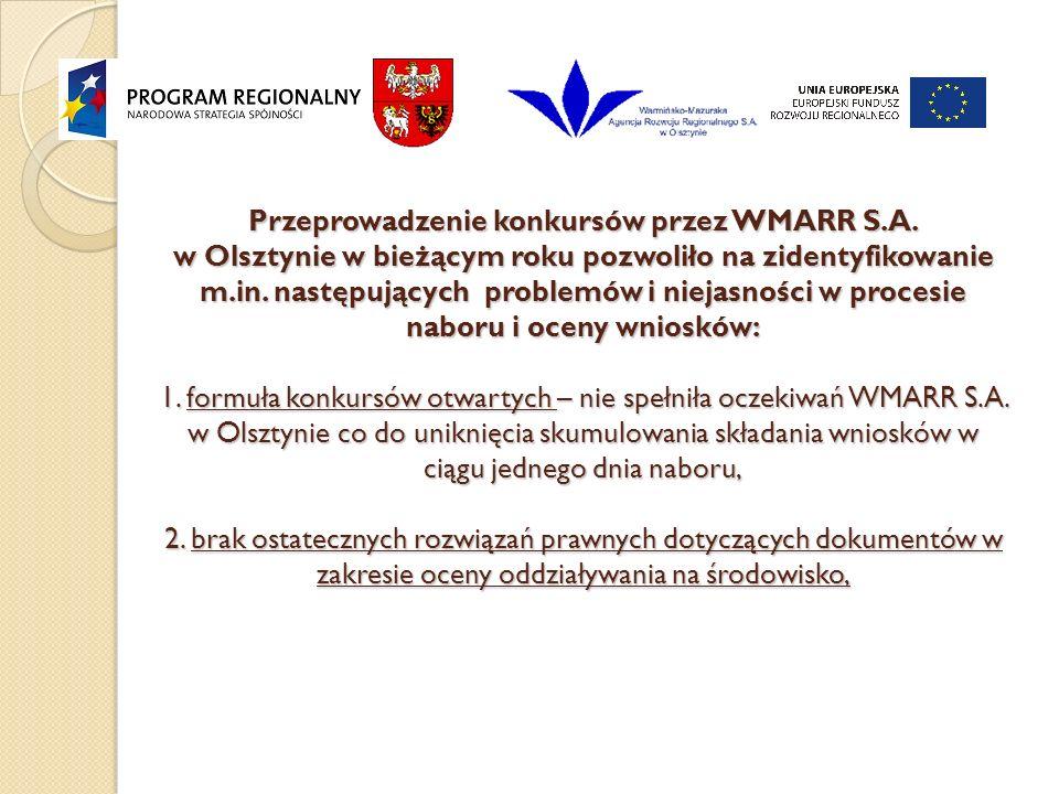 Przeprowadzenie konkursów przez WMARR S.A.