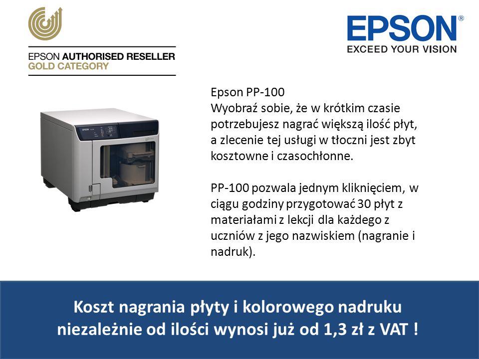 Epson PP-100 Wyobraź sobie, że w krótkim czasie potrzebujesz nagrać większą ilość płyt, a zlecenie tej usługi w tłoczni jest zbyt kosztowne i czasochłonne.