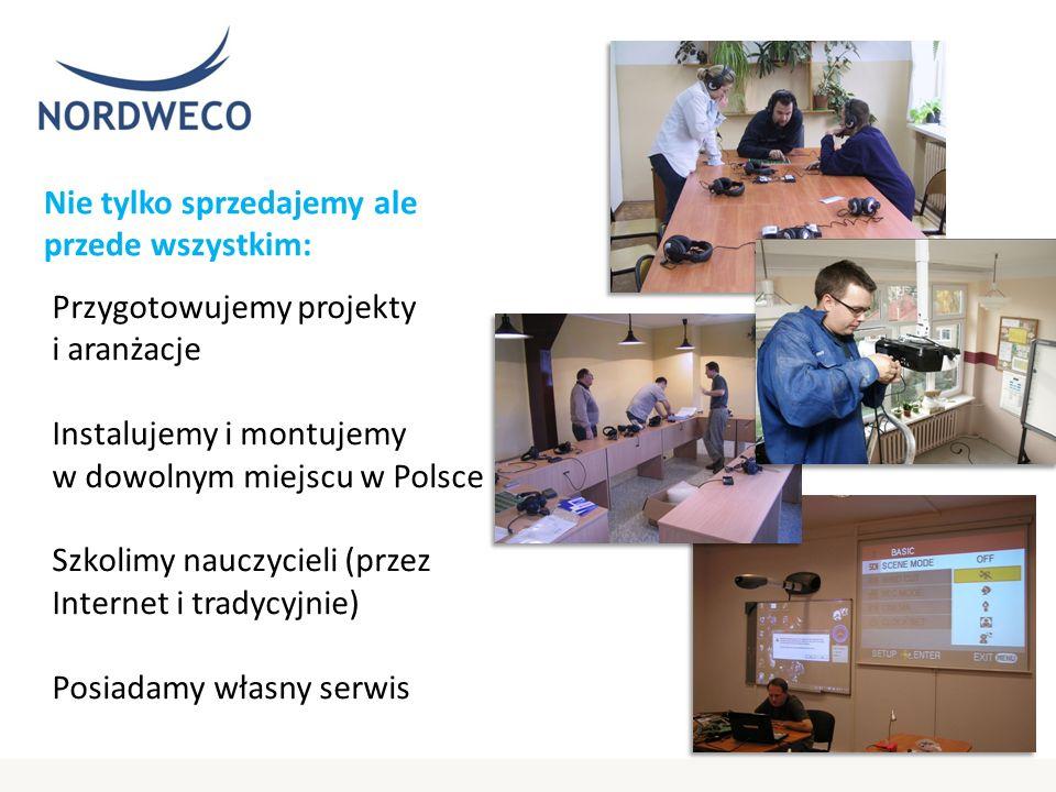 Nie tylko sprzedajemy ale przede wszystkim: Przygotowujemy projekty i aranżacje Instalujemy i montujemy w dowolnym miejscu w Polsce Szkolimy nauczycieli (przez Internet i tradycyjnie) Posiadamy własny serwis