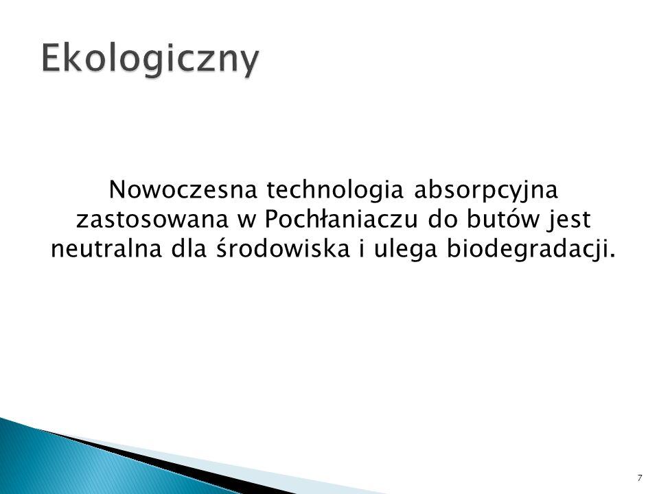 Nowoczesna technologia absorpcyjna zastosowana w Pochłaniaczu do butów jest neutralna dla środowiska i ulega biodegradacji. 7