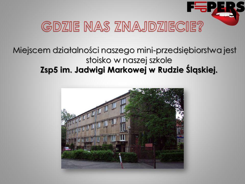 Miejscem działalności naszego mini-przedsiębiorstwa jest stoisko w naszej szkole Zsp5 im.
