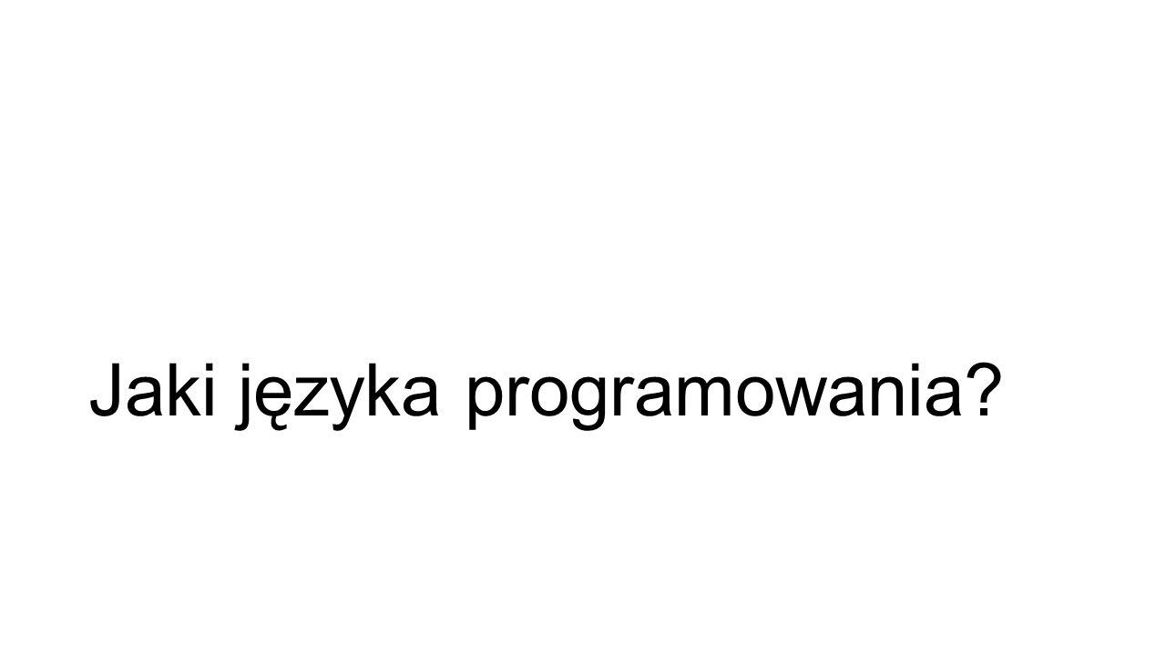 Jaki języka programowania