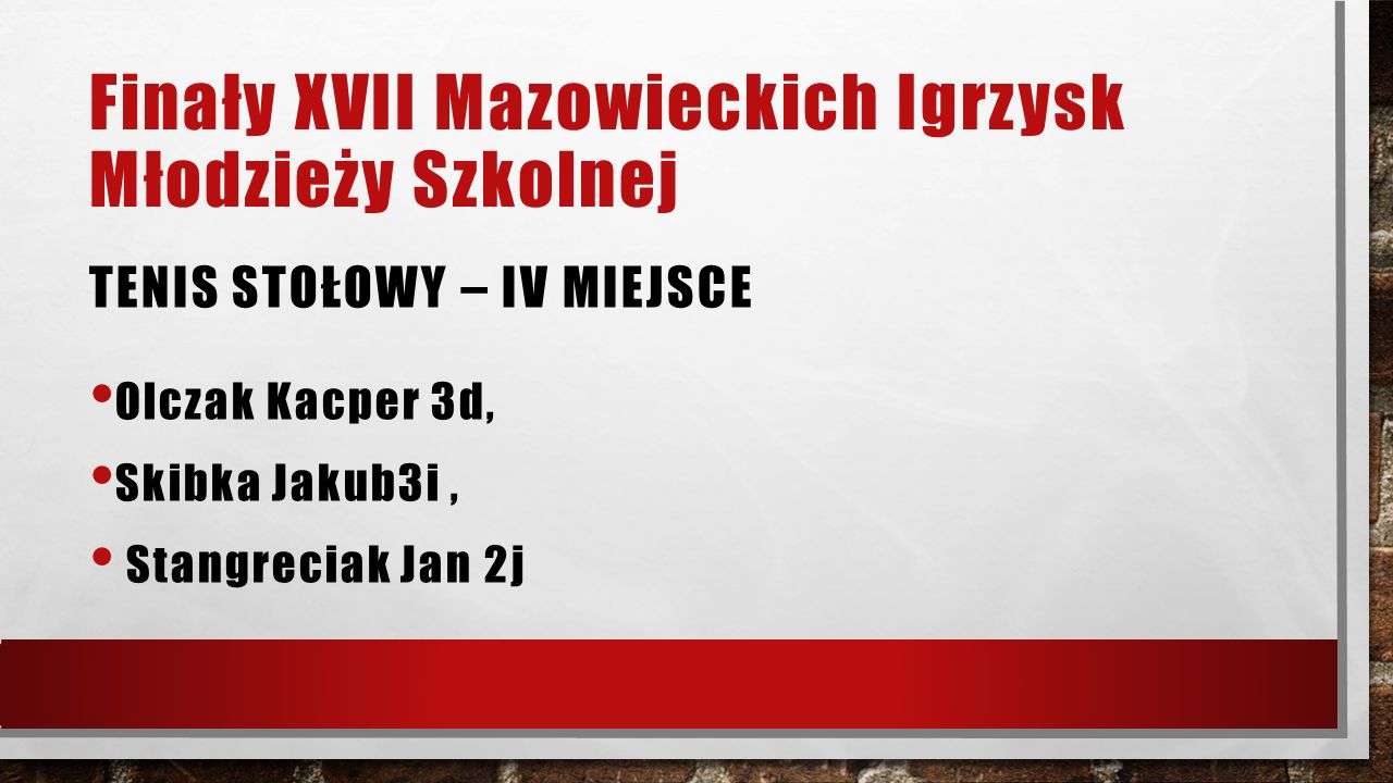 Zawody powiatowe LEKKOATLETYKA CHŁOPCÓW Skok w dal II miejsce – Gustaw Żuchowski - 2 h – grupa wiekowa kl.