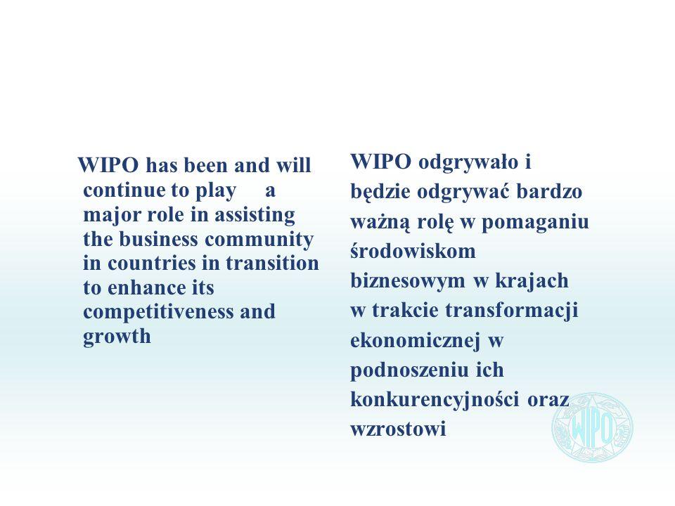 WIPO has been and will continue to play a major role in assisting the business community in countries in transition to enhance its competitiveness and growth WIPO odgrywało i będzie odgrywać bardzo ważną rolę w pomaganiu środowiskom biznesowym w krajach w trakcie transformacji ekonomicznej w podnoszeniu ich konkurencyjności oraz wzrostowi