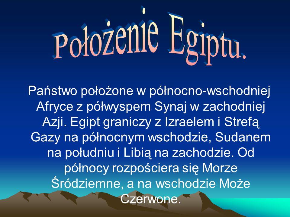 Państwo położone w północno-wschodniej Afryce z półwyspem Synaj w zachodniej Azji.