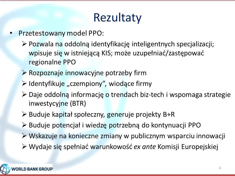 Rezultaty Przetestowany model PPO:  Pozwala na oddolną identyfikację inteligentnych specjalizacji; wpisuje się w istniejącą KIS; może uzupełniać/zast