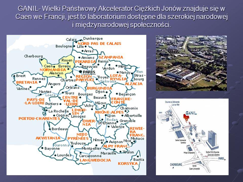 GANIL- Wielki Państwowy Akcelerator Ciężkich Jonów znajduje się w Caen we Francji, jest to laboratorium dostępne dla szerokiej narodowej i międzynarod