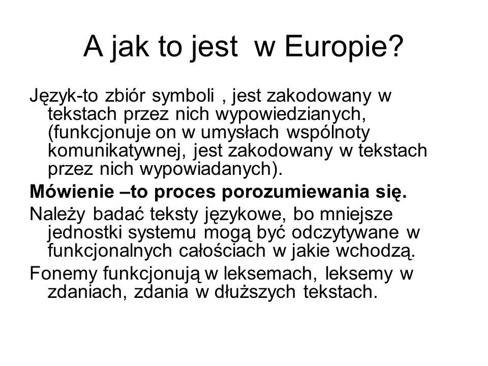 A jak to jest w Europie.